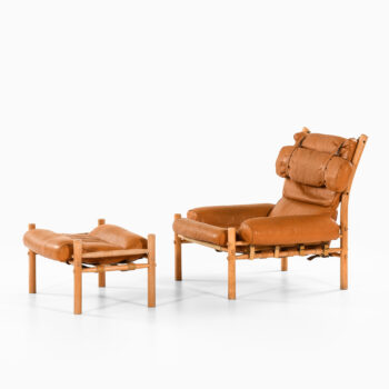 Arne Norell Inca easy chair with stool at Studio Schalling