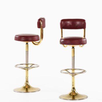Börje Johanson bar stools in leather at Studio Schalling