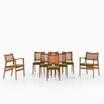 Karl-Erik Ekselius dining chairs in oak at Studio Schalling