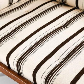 Ib Kofod-Larsen daybed in teak and fabric at Studio Schalling