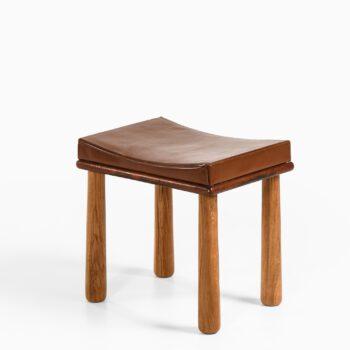 Arnold Madsen attributed stool in oak at Studio Schalling