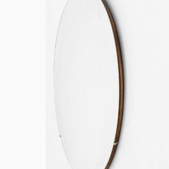 Large round mirror by unknown designer at Studio Schalling