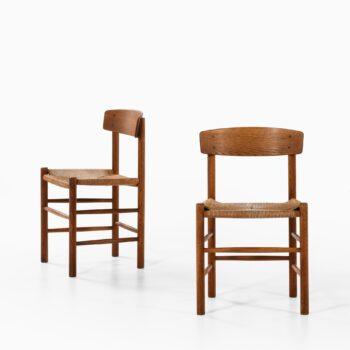 Børge Mogensen J39 dining chairs in oak at Studio Schalling