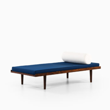 Rare daybed in rosewood and fabric at Studio Schalling