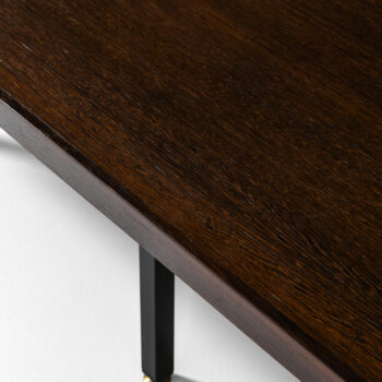 Side tables in wengé and brass at Studio Schalling