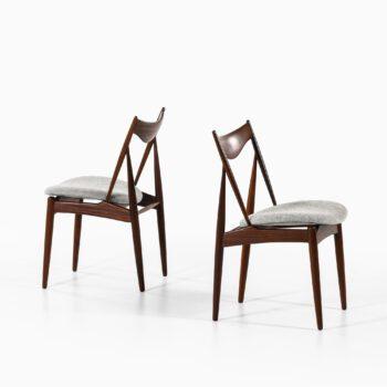 Kurt Østervig dining chairs in walnut at Studio Schalling