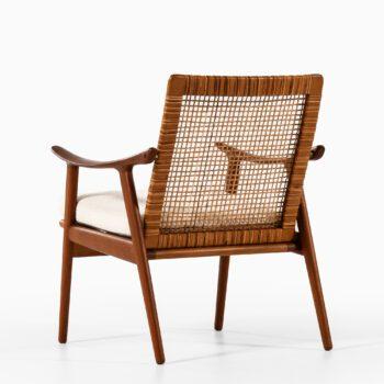 Fredrik Kayser easy chair in teak and cane at Studio Schalling