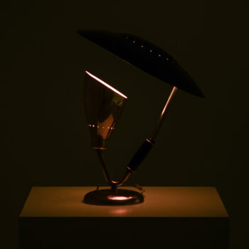 Table lamp in brass produced by Boréns at Studio Schalling