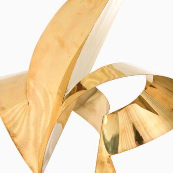 Kari Huhtamo sculpture in brass at Studio Schalling