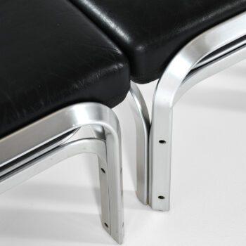 Jørn Utzon seating group in aluminium at Studio Schalling