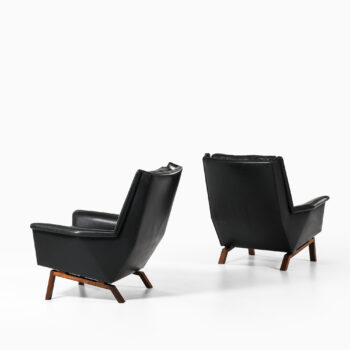 Easy chair in rosewood and leather at Studio Schalling