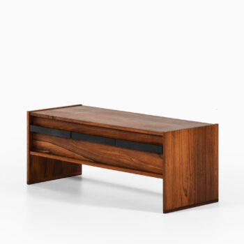 Bureau in rosewood and leather at Studio Schalling