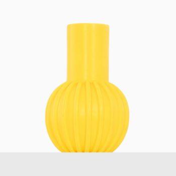 Yellow ceramic vase by unknown designer at Studio Schalling