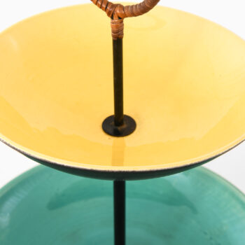 Tray in ceramic and cane by unknown designer at Studio Schalling