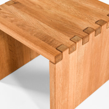 Contemporary side table in solid oak at Studio Schalling