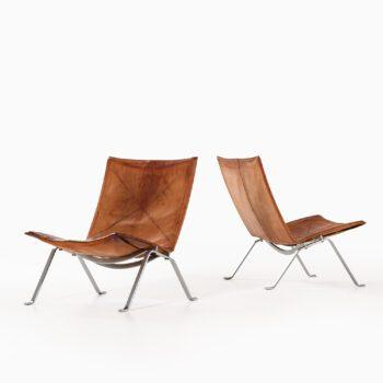 Poul Kjærholm PK-22 easy chairs at Studio Schalling