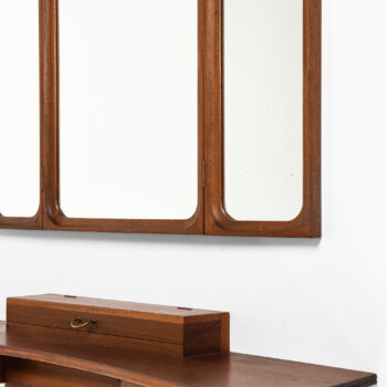 Frode Holm vanity and mirror in mahogany at Studio Schalling